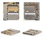 Memory Card Connector for Nokia 206 Asha, 302 Asha, 308 Asha, 603, 701, 820 Lumia, C2-00, C2-05, C6-01, C7-00, E6-00, N8-00, X2-02, X2-05; Sony F3111 Xperia XA, F3112 Xperia XA Dual, F3113 Xperia XA, F3115 Xperia XA, F3116 Xperia XA Dual, G3412 Xperia XA1 Plus Dual Cell Phones