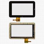 """Touchscreen China-Tablet PC 7""""; Rainbow Six Liunx T06; Onda Vi10, (7"""", 191 mm, 119 mm, 12 pin, capacitive, black) #PINGBO PB70DR7013G-R1"""