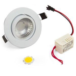 LED Downlight DIY Kit COB 3 W (cold white)