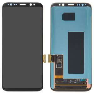 LCD compatible with Samsung G950 Galaxy S8, (black, with touchscreen, original (change glass) )