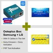 Octoplus Box Samsung + LG + FRP Tool + Unlimited Sony Ericsson + Sony Activation with 5 in 1 Cable Set