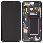 LCD compatible with Samsung G965 Galaxy S9 Plus, (black, with touchscreen, with frame, Original (PRC), midnight Black, original glass)