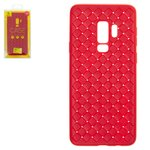Case Baseus compatible with Samsung G965 Galaxy S9 Plus, (red, braided, plastic) #WISAS9P-BV09