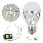 Juego de piezas para armar lámpara LED SQ-Q02 5730 5 W (luz blanca cálida, E27)