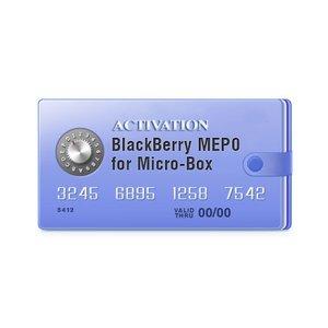 Micro-Box: активация для разблокировки BlackBerry MEP0