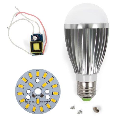 Комплект для збирання світлодіодної лампи SQ-Q03 9 Вт (теплий білий, E27), регулювання яскравості (димірування)