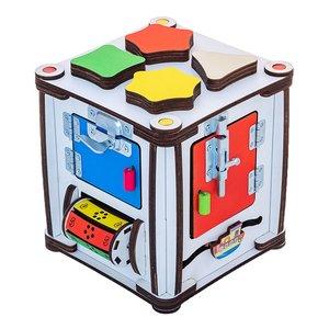 Бизиборд GoodPlay Развивающий кубик с подсветкой (17×17×18)